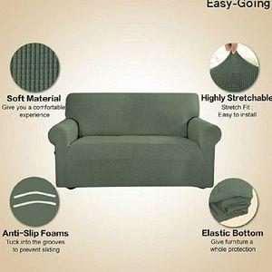 Swell Greyish Green Loveseat Slipcover Nwt Evergreenethics Interior Chair Design Evergreenethicsorg